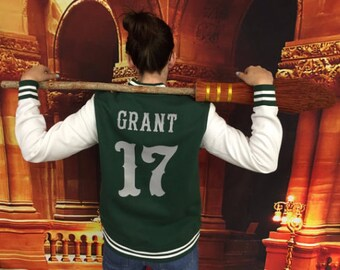 Ladies Custom Varsity Sweatshirt | Your name and number printed on the back!