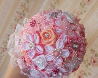 Bouquet for the bride, bridesmaids. Christening.