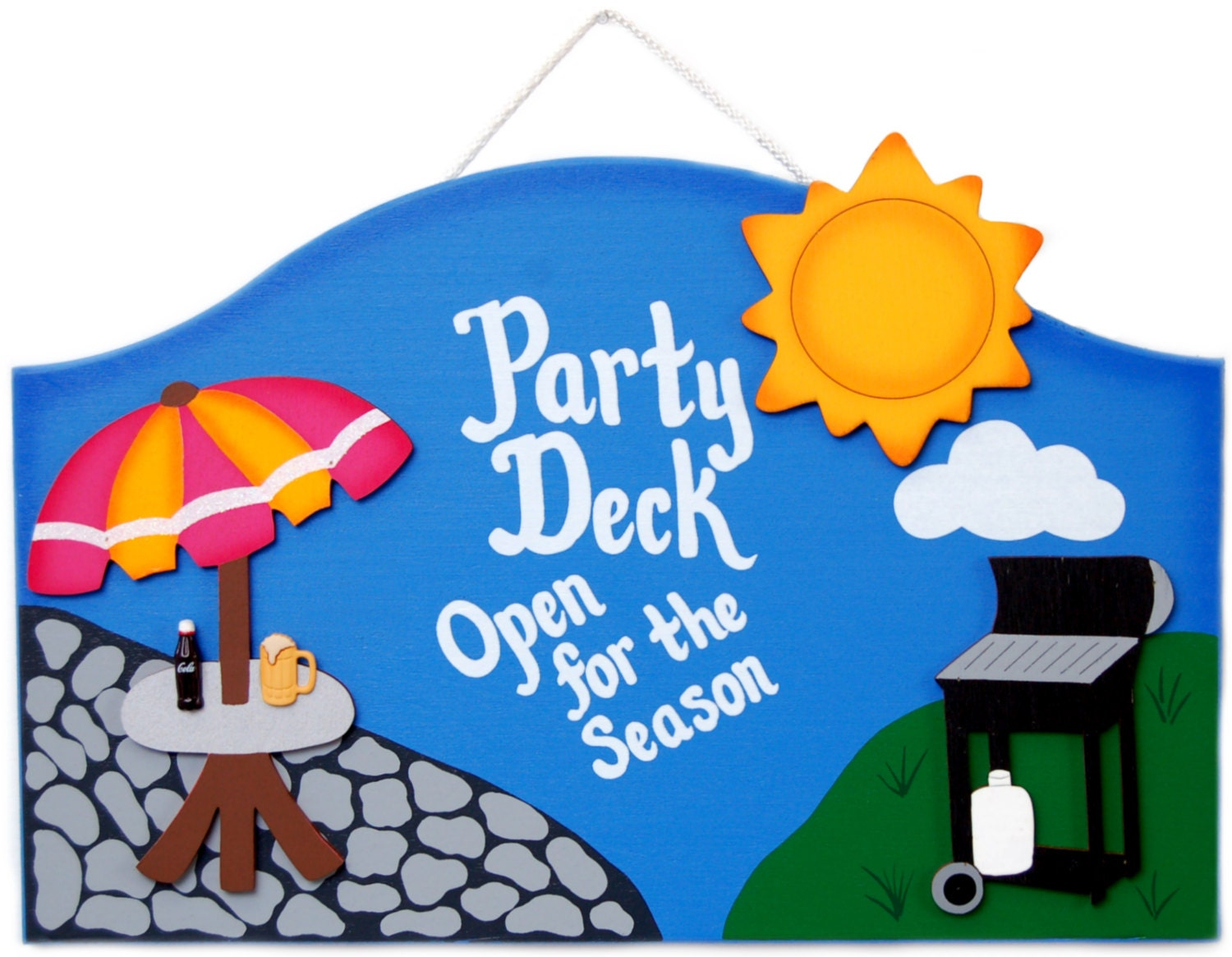 Outdoor Welcome Sign Party Deck