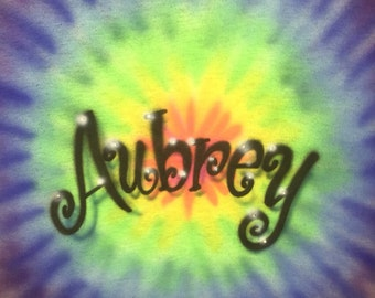 Personalized Airbrushed Rainbow Starburst T-shirt
