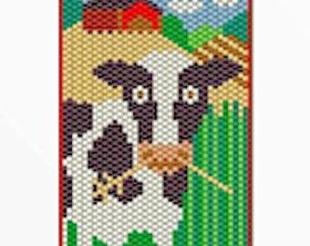 Bessie the Cow bead banner pattern