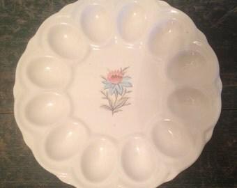 Vintage Steubenville Fairlane Deviled Egg Platter Plate