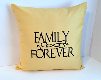 16 x 16 Butter Yellow Quote Envelope Style Pillow Cover