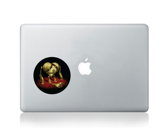 Wind-up Broken Hearted Vinyl Sticker for Macbook (13/15) or Laptop by Thomas Fuchs