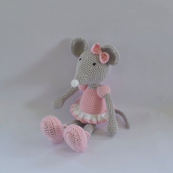 Amigurumi Mouse Ballerina Mouse Soft Toy Crochet Doll