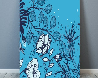 "Design ""Nature and Flowers"" Poster A3 - 50x70 cm - 70x100 cm - digital print"