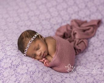 Smokey Lavender Wrap, Soft Wrap, Oatmeal Wrap, Ivory Knit Wrap, Newborn Photo Prop, Newborn Photo Prop, Newborn Wrap, Newborn Layer
