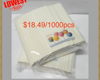 "1000pcs 6"" Lollipop Sticks For Cake Pops or Lollipop Candy"