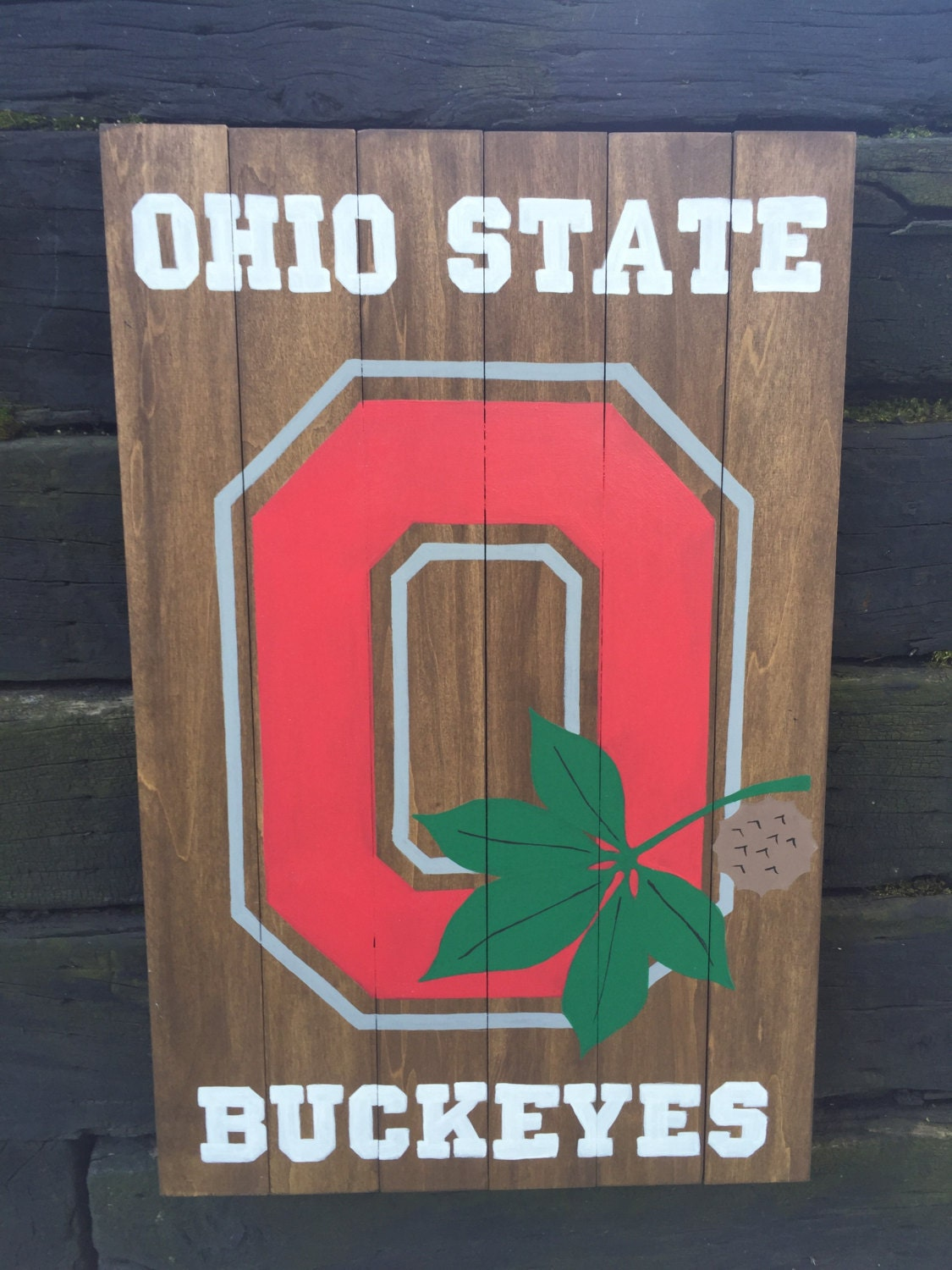Ohio State Man Cave Signs : Ohio state buckeyes sign osu man cave pallet custom hand
