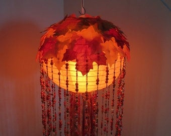 Maple Leaf Jellyfish Pendant Light * LED *  Fast, free shipping