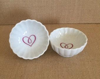 Scalloped Heart Jewelry Dish