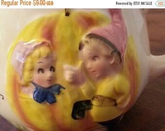 CIJ SALE Vintage ENESCO Nursery Rhyme Mug Cup Peter Peter Pumpkin Eater