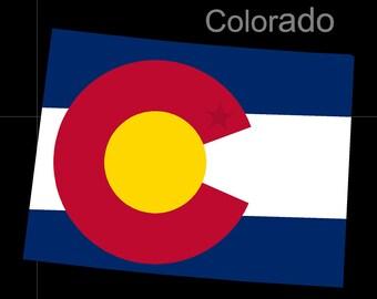 Colorado American State Flag Pride Decal Sticker