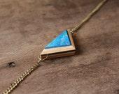 Mini Tremont Necklace   Blue Necklace   Skateboard Jewelry