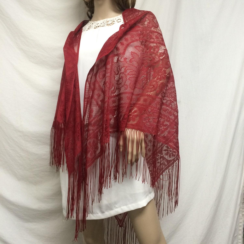 free ship lace shawl wrap fringed piano scarf