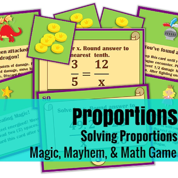 Magic, Mayhem, and...Math! : Solving Proportions (A Math Game Full of Adventure!)