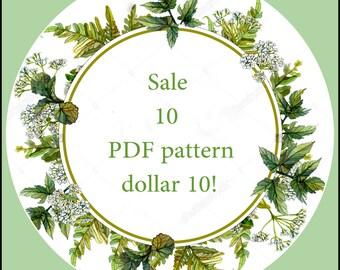 Cross Stitch Pattern SALE! 10 PDF Patterns 10 dollar!