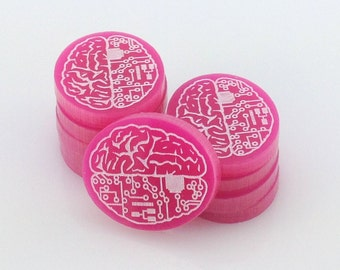 Android: Netrunner brain damage tokens - 26 colours