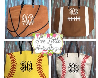 Baseball Tote ~ Monogrammed Baseball Tote ~ Personalized Baseball Tote ~ Softball Tote ~ Football Tote ~ Basketball Tote