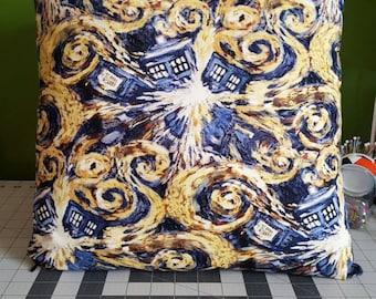 Doctor Who Exploding Tardis Print Handmade Pillow