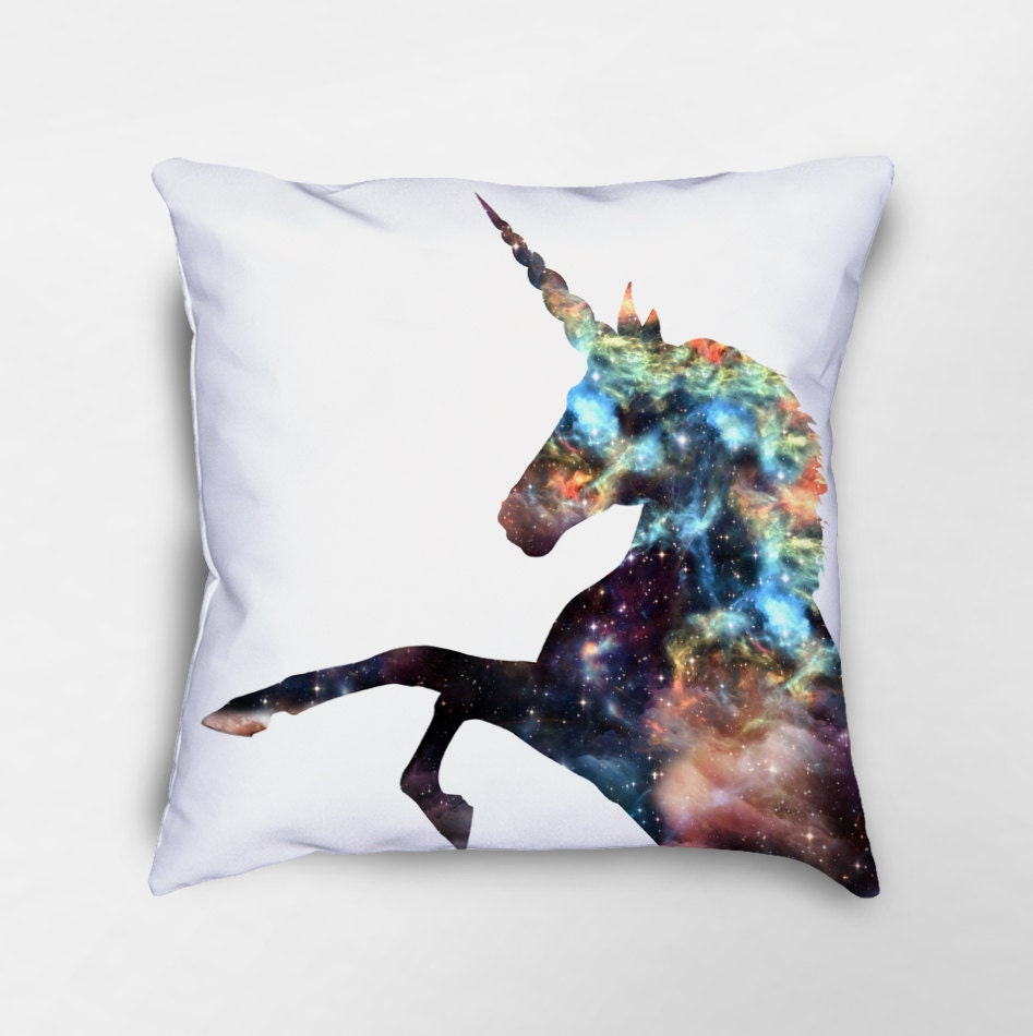 Unicorn Throw Pillow Unicorn Pillow Galaxy Pillow Nebula