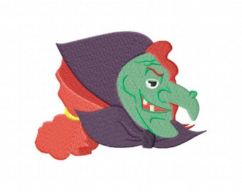 Cunning Scary Witch Machine Embroidery Design