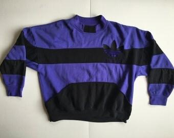 Vintage Adidas Crewneck Sweater RUN DMC Front Pockets XL Extra Large