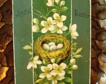 Vintage Joyful Easter Postcard - Circa 1910's - Good Vintage Condition!!