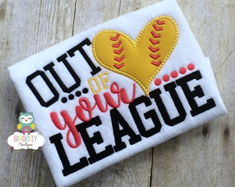 Out of Your League Shirt, Baseball Season, Softball Season, Love of Baseball, I Love Baseball, Out of Your League, Baseball, Softball Shirt
