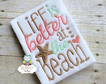Life is Better at the Beach Shirt or Bodysuit, Beach Shirt, Pool Shirt, Summer Shirt, Summer Time, Fun in the Sun, Beach Hair, Beach Trip