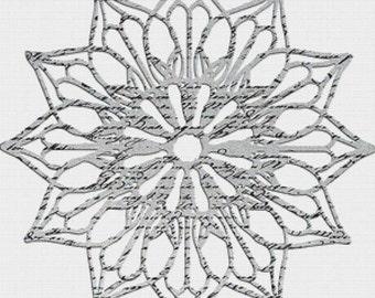 Rosette PDF Cross Stitch Pattern