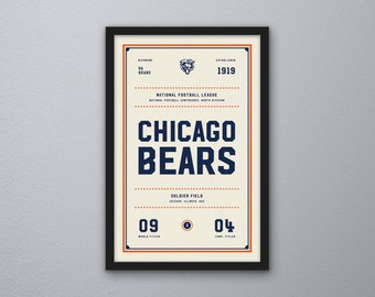 "Chicago Bears ""Day & Night"" Print"