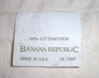 1980s vintage Banana Republic cotton shopping bag