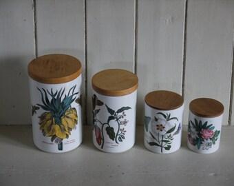 Set of Vintage Portmeirion Storage Jars