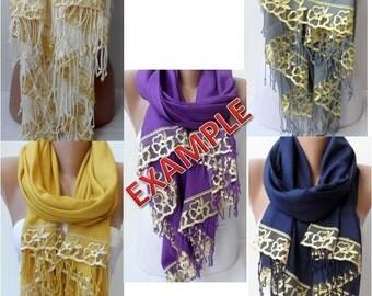 SET OF 5+1 Wedding Bridal Shawl with French Lace Soft Dainty Lightweight Pashmina Shawl Wrap Bridesmaid pashmina Women Accessories