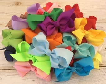 "10%Off/ set of 6 hair bow/ 4.5""-5"" bows/ hair bows/ hairbow/ baby hair bow/ newborn hair bow/ bow for baby/ birthday bow/ hair accessories"