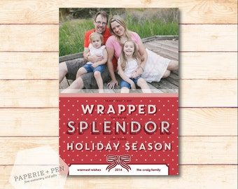 Wrapped in Splendor // Holiday Photo Card