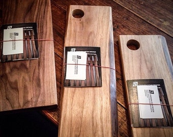 Tapas Serving Board - a modern take on the traditional cutting board.  Made from beautiful hardwoods.