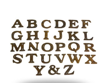 Antique Brass Exterior Letter Set A-Z and &, Unique House Letters to Spell Last Name, Street Name or Inspirational Words, Decorative Letters