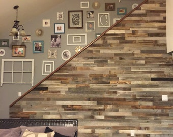 Reclaimed Wood Wall Paneling DIY asst 3-inch boards. Barnwood boards choice of colors.  Price per Sq Foot.