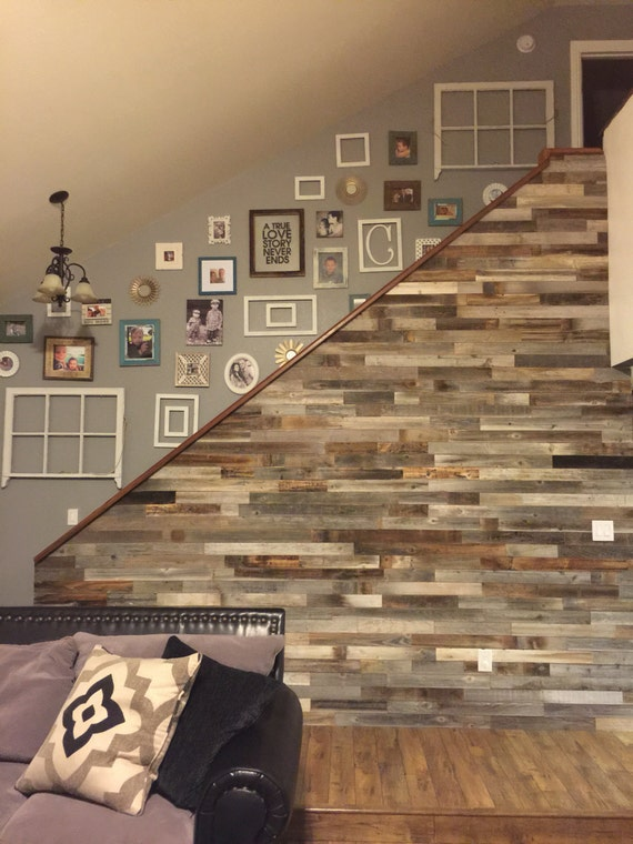 Reclaimed Wood Wall Paneling DIY asst 3-inch boards. Barnwood boards choice  of colors - Reclaimed Wood Wall Paneling DIY Asst 3-inch Boards. Barnwood