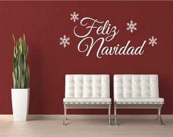 Feliz Navidad- Spanish wall decal