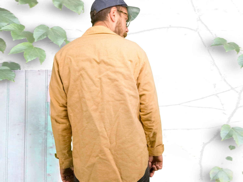Minimal 70\'s JCPenney Men\'s Store Tan Cotton Work Shirt ...