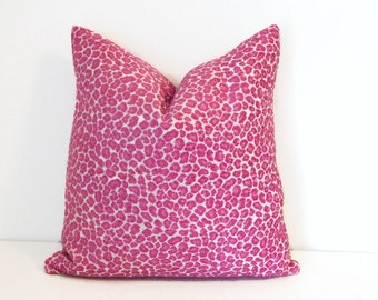 Hot Pink Cheetah Print Pillow Cover-Fuchsia Leopard Print Pillow Cover-Animal Print Pillow Cover-Cheetah Print Pillow-Pink Pillow