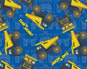 Tonka Trucks Time to Work Fabric By the Yard