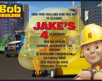 Bob The Builder Invitation