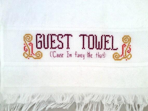 Knitting Room Fond Du Lac : Fancy guest towel pdf pattern funny cross stitch