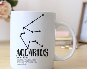 Aquarius Zodiac Horoscope 15 oz Coffee Mug
