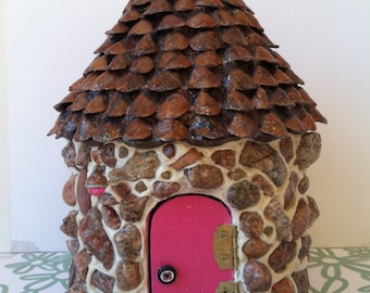 Fushsia Fairy House