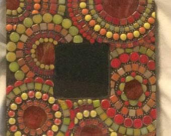 Yellow, Orange and Red Mosaic Mirror, Mosaic Wall Art